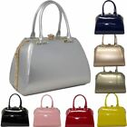 New Faux Leather Glossy Diamante Adorable Fashion Tote Bag Handbag