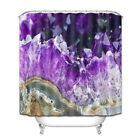 Natural Agate Amethyst Shower Curtain Polyester Fabric Bathroom Mat Accessories
