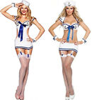 Adult Womens Sailor Navy Costume Uniforms Sexy Lingerie Halloween Party Outfits