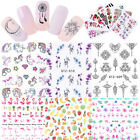 French Necklace Flower Nail Water Decals Fruit Leaf Nail Art Transfer Sticker