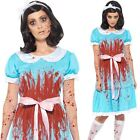Womens Murderous Twin Sister Costume The Shining Ladies Fancy Dress Outfit