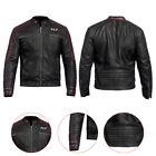 N7 Street Fighter Commander Gaming Biker Moto Black Retro Vintage Leather Jacket