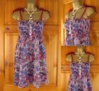 NEW TOPSHOP LILAC FLORAL SUMMER STRAPPY TUNIC CAMI BEACH TOP UK SIZE 6-18 XS-XL