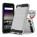 for ZTE BLADE VANTAGE (Verizon), [Protech Series] Phone Case Brushed Slim Cover