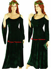 Medieval Green Maid Marian Game Thrones Gown Dress Costume - 8 10 12 14 16 18 20