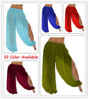 Genie Aladdin Boho Sheer Chiffon Harem Yoga Pants with Side Slit Clearance Sale