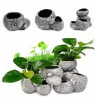 Aquarium Plant Bonsai Stone Pot Fish Tank Stone Cave Decoration For Fish Breeder