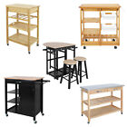 Kitchen Cart Island Rolling Home Dining Wood Trolley Storage Modern Cabinet
