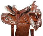 USED WESTERN BARREL RACING SADDLE 14 15 LEATHER SILVER SHOW HORSE TACK