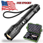 Super Bright LED Tactical Flashlight Military Grade Torch Long-Range 1000 Lumens
