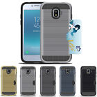 Hybrid Brushed Armor Rubber Card Case Cover for Samsung Galaxy Grand Prime Pro