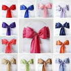 Taffeta Crinkle CHAIR SASHES Bows Ties Wedding Reception Decorations Wholesale