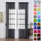Sheer Organza 52 x 96-Inch Window Drapes Curtain 2 Panels Home Party Wedding