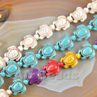 """15x18mm Howlite Turquoise Carved Turtle Spacer Gemstone Beads 15.5"""""""