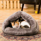 Triangle Pet House Dogs Cats Kitty Puppy Cave Bed Cushion Mat Pad Sleeping Bag