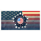 Patriotic Stars Badge Happy 4th of July Party Banner Decoration