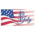 Patriotic Flag Happy 4th of July Party Banner Decoration