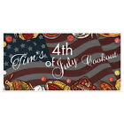 Times Cookout Patriotic Happy 4th of July Party Banner Decoration