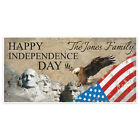 Patriotic Eagle Flag Happy 4th of July Party Personalized Banner Decoration
