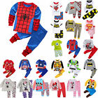 Boys Girls Cartoon Sleepwear Outfits Kids Toddlers Nightwear Pj