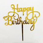Birthday Cake Topper Happy Birthday Candle Party Supplies Decor Acrylic Durable