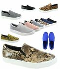 Women's Color Causal Round Toe Slip On Flat Sneaker Shoes Size 5.5 - 11 NEW