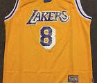Kobe Bryant 8 Vintage Los Angeles Lakers Yellow Throwback Basketball Jersey Men