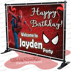 Spiderman Birthday Banner PersonalizedParty Backdrop Decoration Red