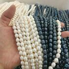 Natural Rice Cultured Freshwater Pearl Beads Strand  For Craft Diy Jewelry Gifts