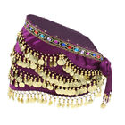 Triangular Belly Dance Costume Belts with Gold Coins and Colorful Diamonds