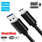 Lot 6FT 3FT USB Type C Data Sync Charger Charging Cable for Samsung Galaxy S8 S9