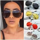 women oversized aviator cat eye sunglasses flat