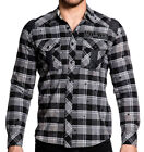 Affliction - RENDER - Men's Long Sleeve Dress Shirt - NEW - Black / Grey