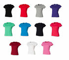 Ladies Prefect Fit T-Shirt Womens  White Cotton Short Sleeve Top SK201