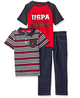 U.S. Polo Assn. Boys' T-Shirt, Polo Shirt and Pant Set