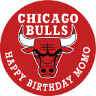 Chicago Bulls Theme Personalised Edible Image REAL Icing Cake Topper on eBay