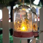Christmas Hanging Ornament Micro Landscape With Light Christmas Party Decor AX