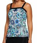 $121~Fit 4 U~D's & E's Al Fresco Bandeau Tankini TOP ONLY~A231101