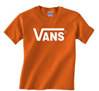 New adult VANS classic logo t-shirt skateboard tee warped tour sizes Small to XL