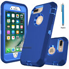 For iPhone 7 Plus Phone Case Hybrid Hard Heavy Duty Shockproof Rubber Cover