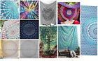 Внешний вид - Indian tapestry hippie mandala wall hanging Bohemian bedspread dorm decor throw