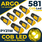 581 Cob Led Smd 1156 Bau15d P21w 21/5w Car Indicator Turn Signal Light Bulbs 12v
