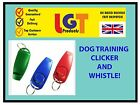 MULTI CLICKER WHISTLE EASY DOG PUPPY PET TRAINING Obedience Agility Keyring 3D
