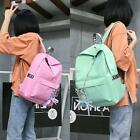 Women Fashion Solid Metal Chain Adjustable Straps Laptop Canvas Backpack N98B