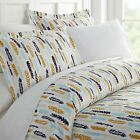 Home Collection Premium Ultra Soft Feathers Pattern 3 Piece Duvet Cover Set image
