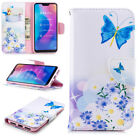 For Xiaomi Redmi 8A Note 9 8T 8 7 6 Pro Patterned Leather Wallet Flip Case Cover