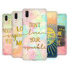HEAD CASE DESIGNS GOLD QUOTES HARD BACK CASE FOR HUAWEI PHONES 1