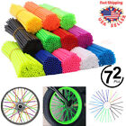 72Pcs Motorcycle Dirt Bike Spoke Skins Covers Wraps Wheel Rim Guard Protector US image