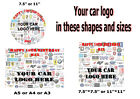 Personalised Car Logo Edible Cake Topper Wafer Icing Sheets A5 or A4 or A3