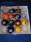 1.5 1 1/2 Inch CUE QUE Ball Mini Billiard Snooker POOL BALL Key Chain Ring NEW! $9.99 USD on eBay